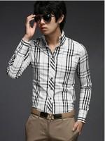 Мужская повседневная рубашка Slim Fit 2Color M/L/XL/XXL 5014 1399-5014