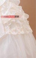 Свадебное платье 2012 high quality wedding dress floor length bridal dress sweep brush train sleeveless strapless bow flower 082