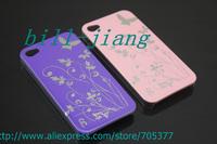 Чехол для для мобильных телефонов for iphone4s case, Butterfly Flower hard Case For iphone 4S 4G 2pcs/lot by china post