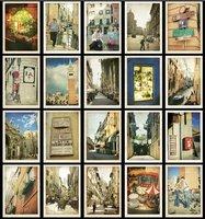 Европа путешествия открытка/Винтаж мини-Канцтовары конверты набор мини открытка подарок/Прага, Лондон, Италия, Париж