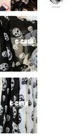 Женский шарф 2013 NEW Style, Fashion Color Skull Scarf Long Chiffon Scarf Women's Korean Version Silk Scarf, S-058