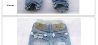 Best Selling! Top quality Boys' Jeans Children Jean baby pants Boy's Jeans Holes trousers+ 1 piece