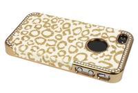 Чехол для для мобильных телефонов Support &retail 1PC Bling Glitter Rhinestone Leopard Hard Case Cover For Apple iPhone 4G 4S