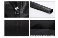 Женская одежда из кожи и замши 2012 autumn new PU han han double coat lapel locomotive brief paragraph lady small leather small coa