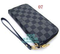 Hot sell 2012 New single pull chain Men/Ms. Wallet paragraph long Zipper wallet  card package handbag Zipper purse