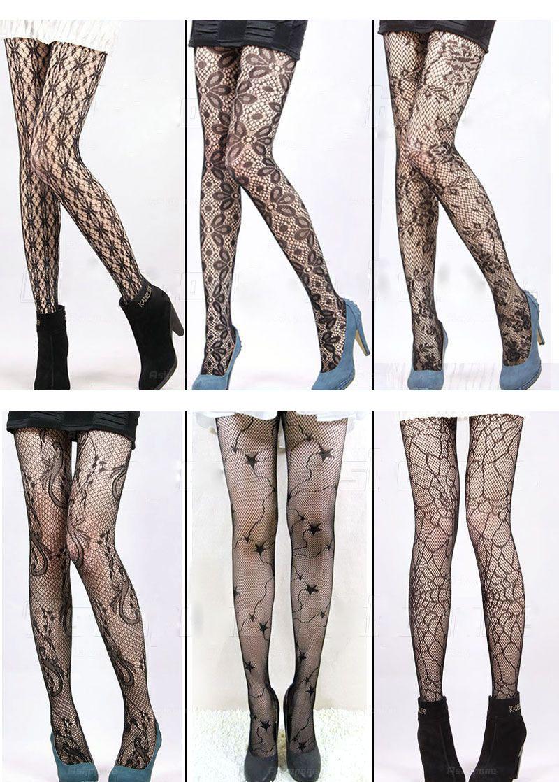 夏薄网袜 女性感花纹丝袜 复古提花镂空防勾丝连裤袜
