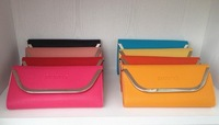 2013 New Vogue candy color hand caught bag long purse one shoulder purse zippers wallets