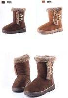 Женские ботинки 2013 winter fashion warm snow boots Direct marketing 2 colors H7676