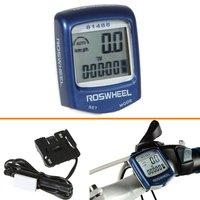 Датчик скорости для велосипеда Cool Fashion Waterproof LCD Cycling Bicycle Bike Accessories Computer Odometer Speedometer Black Blue Yellow