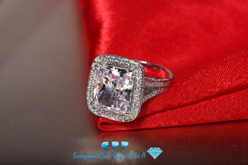 cpp brand luxury quality amazing 8 carat big radiant cut