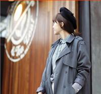 Женский берет Korean wild pure wool bud warm hat wool hat beret painter cap