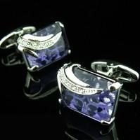 Запонки и зажимы для галстука Luxury gem cufflinks French cuff shirt men cuffs high quality with cufflinks gift box RED