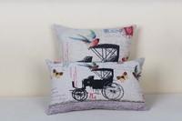 высокое качество белья вшивания ретро диван подушки крышки & поясничного Обложка задать 30 * 50 см/45 * 45 см