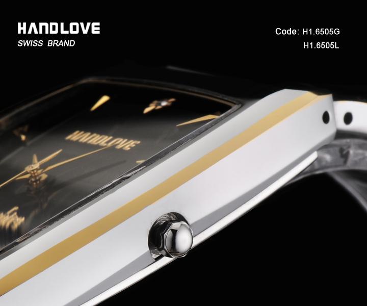 Позолоченные Вольфрама Простые стильные Наручные Часы Водонепроницаемый Моды Часы H1-6505