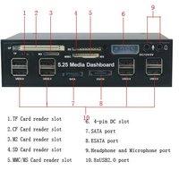 """Кардридер 5.25"""" /ESATA/8xUSB 525A"""