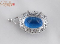 changxing jewelry SOLID 14k /GOLD NATURAL FLAWLESS TOPAZ DIAMOND PENDANT