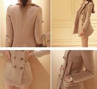 Женская одежда из шерсти 2015 Slim Fit Peacoats