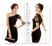 Платье для вечеринки New Women Sexy OL Style Oblique Shoulder Sheath Off Shoulder Party Dress