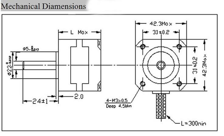 Шаговый двигатель типоразмеры