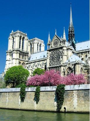 free shipping 3D puzzle famous building Notre Dame de Paris