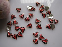 Стразы для ногтей MD-499 3D 50pcs/bag Black&Red Diamond Nail Decoration Metal Shinny Metal Nail Art Decoration