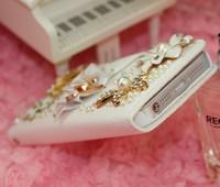 Чехол для для мобильных телефонов crown pearl and stone wallet mobile-phone case for Iphone 4/4S/5