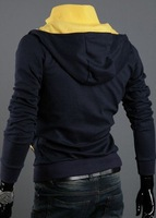 2012 Free shipping New Style Hot Sale Top Man Designer Branded Hoodie Casual Hoody Jacket Size M L XL XXL Colors Navy Black