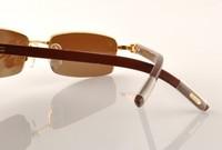 Женские солнцезащитные очки Men's Personality High-end Bbrand Sunglasses Wooden Leg Gold And silver Imitation UVA Anti UVB