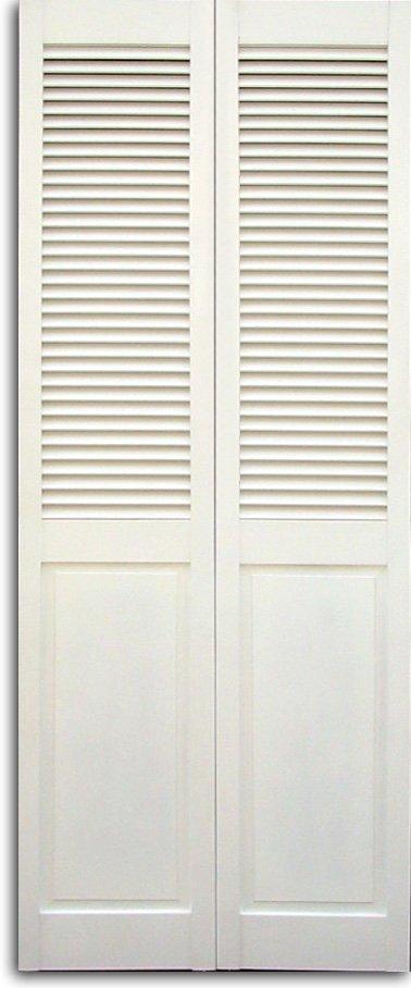 White Louvered Bifold Closet Doors