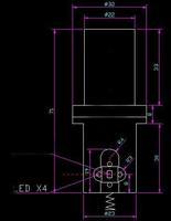 лазерная указка Single Dot Green Laser Module: 200mW 532nm
