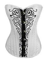 Корректирующий женский топ sexy underwear overbust corset, white bone corset with 20 bones
