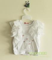 Розничная торговля новой моды детской одежды набор розовый кружевной t рубашку и Брюки детские летние носить девочка одежда sellerjw14xz009