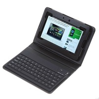"Folding Wireless Bluetooth Keyboard + PU Leather Cases for 7"" BlackBerry Tablet PC Tastatur with Retail Box Free Shipping"