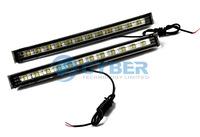 Дневные ходовые огни 2 x Car White 5W SMD 12-LED DC 12V Fog Lamp Driving Day Daytime Running Light 4615