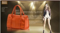 100% of the 2013 new high quality genuine leather handbags fashion leisure shoulder bag, lady bag free shipping C10201