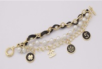 Браслет 2013 FASHION WOMEN JEWELRY, elegant classic x 5 pearl dripping bracelet