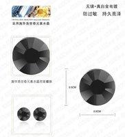 черный кристалл серьги сделаны с кристалами SWAROVSKI, нескольких имеющийся цвет