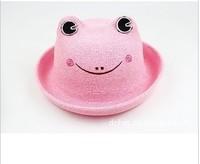 Шапка для мальчиков The latest small animal hemp straw hat children lovely hat baby cat cap, baby animal hats CA031