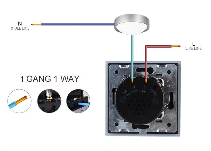 Сенсорный выключатель Livolo VL-C701-12, Евро стандарт, 110~250V Черного цвета.