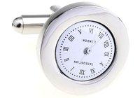 Silver Cufflink 6pcs Wholesale Free Shipping / Clock