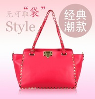 Детали и Аксессуары для сумок 2013 new winter fashion handbags women Messenger Bags in Europe America rivet bags portable shoulder genuine leather handbags