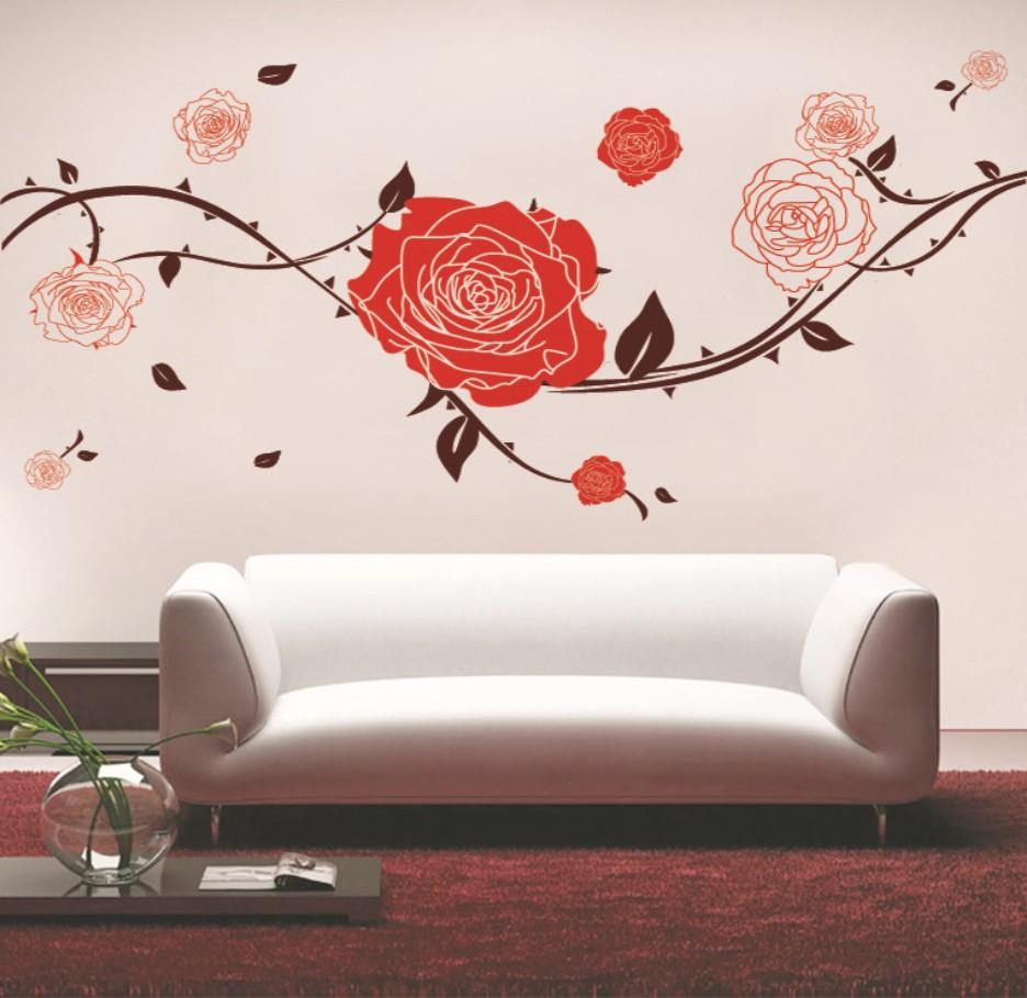 Наклейки на стены цветы фото