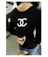 Женская футболка tops women clothing 2013 fashion women t-shirt long sleeve female t shirt