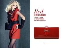 Потребительские товары Classic women's wallet genuine leather long wallet cowhide women's design day clutch