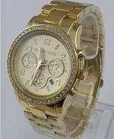 Наручные часы Brand New Michael 5166 Runway Glitz Calendar Wrist Watches With Crystal 4 Color mk watch DHL EMS