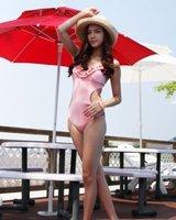 Женское бикини retail, 2011 New Hot-selling fashion lady's one-pieces bikini, swimwear, sexy bikini/Pink&Black/XX-018