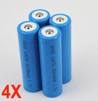 Аккумулятор 4 18650 li/ion 3.7V 5000MAH LED