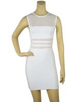 HL145 Free shipping 2013 New arrival Women's o-neck sleeveless sexy prom celebrity Bandage HL party Dresses wholesale/retail
