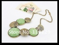 Колье-ошейник 2012 Fashionable Vintage Necklace Jewelry Round Collar Short Necklace Exaggeration Metal Neck Chain