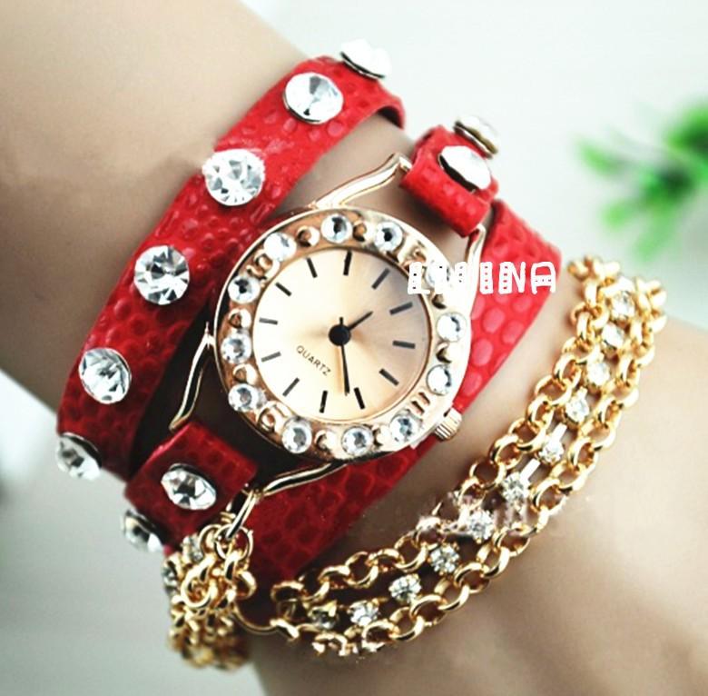 Гламурные женские часы наручные с камушками